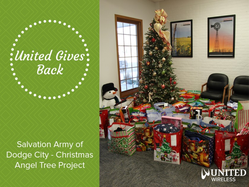 United Gives Back: Salvation Army of Dodge City's Christmas Angel Tree Project
