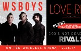 United Wireless Arena Newsboys Concert Feb 25, 17